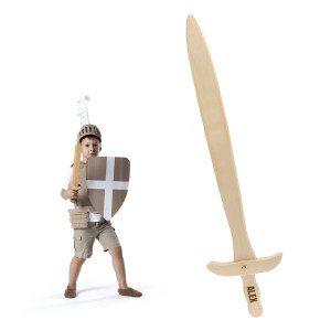 Houten zwaard met naam - personaliseerbaar