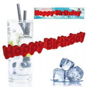 "IJsblokjesbakje ""Happy Birthday"""
