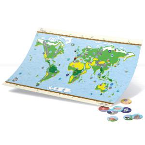 Interactieve landkaart voor kinderen met stickers