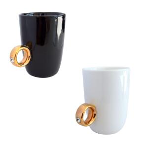 """""""Ja, ik wil. Koffie!"""" - Mok met ring"""