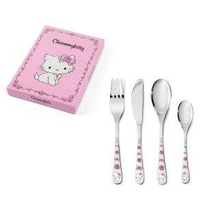 "Kinderbestekset ""Hello Kitty"" met gravure (4-delig)"
