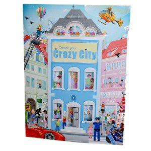 Kleurboek Create Your Crazy City - met stickers