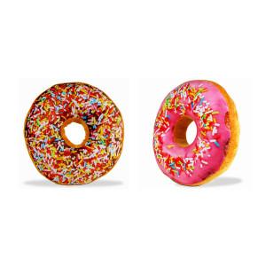 """Kussen """"Donut"""" - keuze uit roze en bruin"""