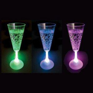 LED- champagneglas
