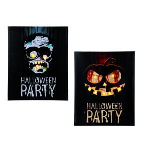 Led-poster voor Halloween