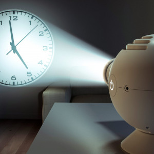 LED-projectieklok
