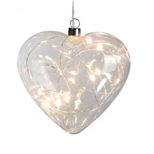 Lichtgevend glazen hartje