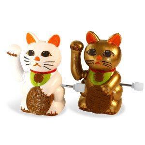 Lucky Cats: Opwindbare gelukskatten (set van 2)