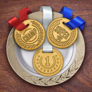 Medaille uitsteekvormpjes