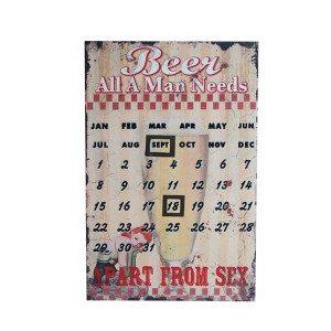 """Metalen kalender """"Bier"""""""