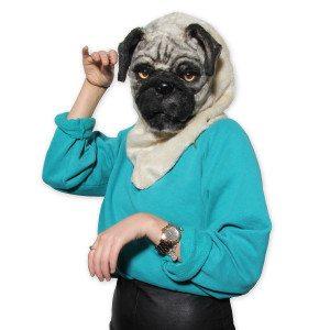 Mr. Mops hondenmasker