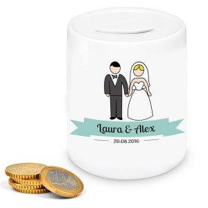 Personaliseerbare bruiloft-spaarpot