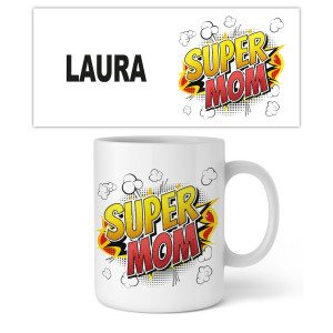 "Personaliseerbare mok ""Super Mom"""