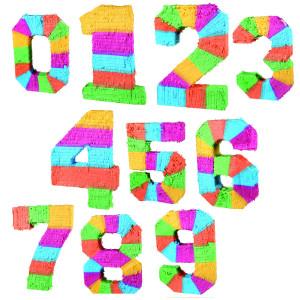 Piñata´s in de vorm van getallen