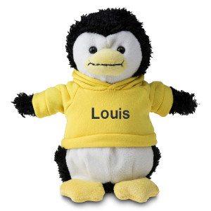 Pinguïn met trui en naam
