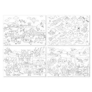 Placemat kleurboek stad & land
