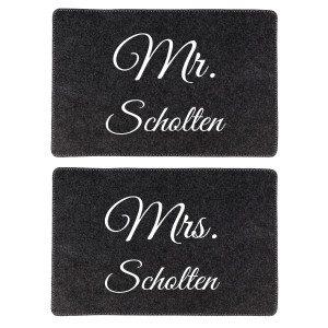 """Placemat-set """"Mr. & Mrs."""""""