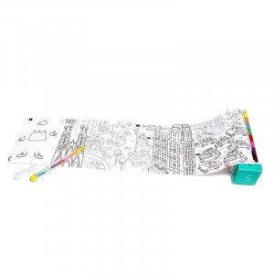 Reisspel met kleurplaten en stift