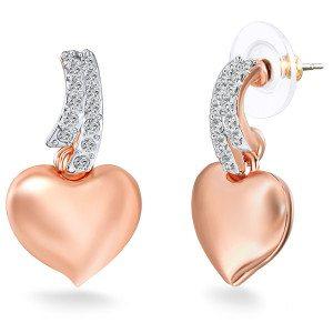Roségouden oorbellen met Swarovski-kristallen - mooi cadeau voor haar