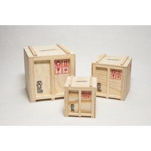 """Designerbox """"Cargo"""" - set van drie - een origineel ontwerp"""