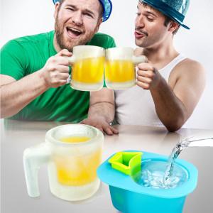 Siliconenvorm voor bierpul van ijs