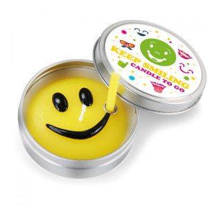 Smile - vrolijke kaarsen voor onderweg