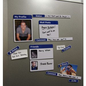 Social Network koelkastmagneten