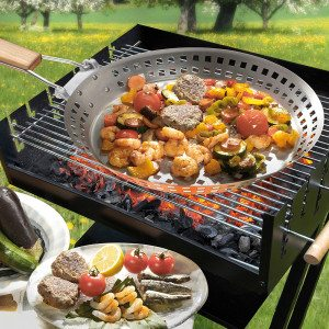 Stalen BBQ grillpan