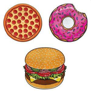 """Strandhanddoek """"Donut"""", """"Pizza"""", of """"Burger"""""""