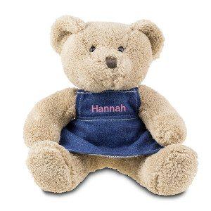 Teddybeer met jurk en naam