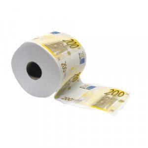 "Toiletpapier ""200-eurobiljet"""