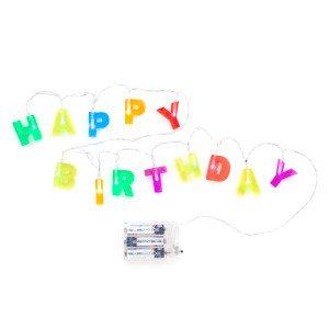 "Verlichtingssnoer ""Happy Birthday"""