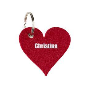 """Vilten sleutelhanger """"hart"""" bedrukken"""