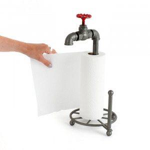 Voor loodgieters - keukenrolhouder met waterkraan