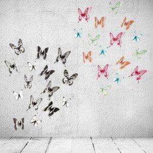"""Wanddecoratie """"Vlinders"""""""