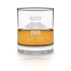 """Whiskyglas """"Beste papa"""" met gravure"""