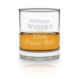 Whiskyglas met gravure