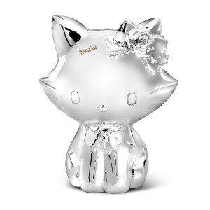 Zilveren Hello Kitty-spaarpot met gravure