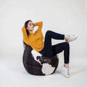 """Zitzak """"Globe"""" - zitzak in de vorm van een wereldbol"""